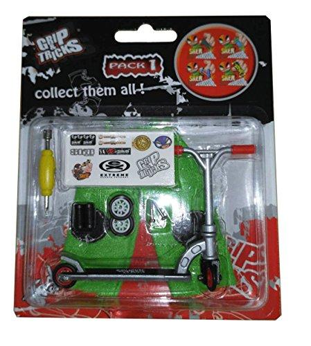 Grip & Tricks - Finger Scooter - Skate - Pack1 - Dimensions: 22 X 13,5 X 2 cm (Roller Wheels Skate Trucks Und)