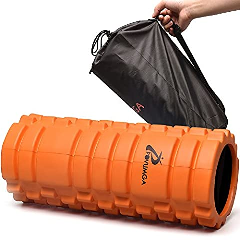POVUMGA Foam Roller Trigger Point Massage And Recovery Foam Roller For Muscles -Perfect In Fitness Exercise Yoga Gym And Workout