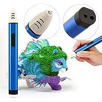 Bolígrafo de impresión 3D con pantalla OLED para bolígrafo 3D Recargas de filamento PCL de 1.75 mm Bolígrafo de dibujo a baja temperatura Niños Adultos Regalo Azul - Azul UE (En stock)