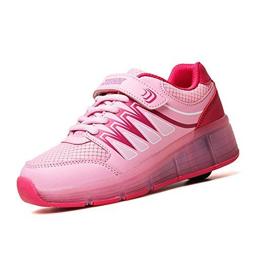 Bambini Sneakers LED scarpe sportive Skate Ruote luminose ragazza e ragazzo USB Charge Scarpe ruota