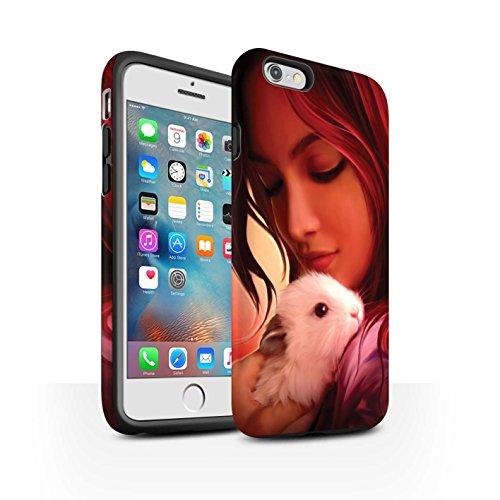 Officiel Elena Dudina Coque / Matte Robuste Antichoc Etui pour Apple iPhone 6+/Plus 5.5 / Félins/Léopard/Guerrier Design / Les Animaux Collection Dans mes Bras/Sûr