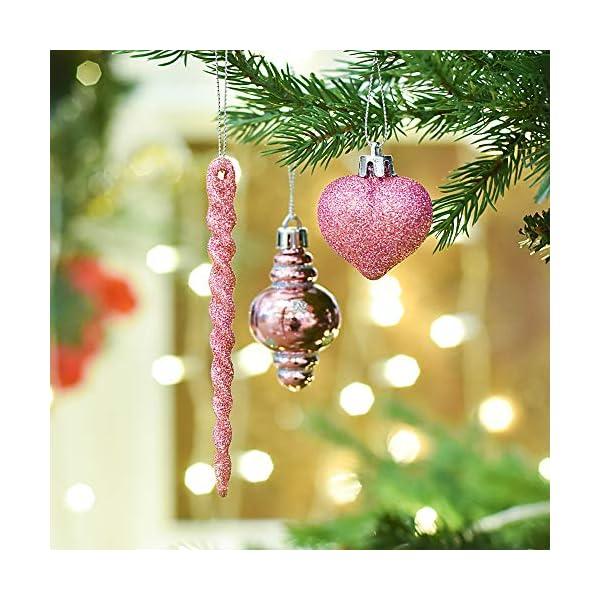 Plastik Christbaumkugeln.Valery Madelyn 60 Tlg Plastik Christbaumkugeln Weihnachtsbaumschmuck Set