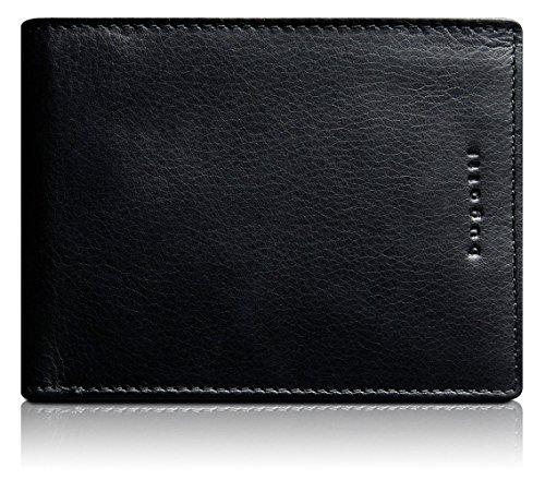 Bugatti Romano Geldbörse Echtleder, Querformat, Schwarz