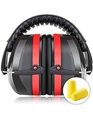 Casque Anti bruit, Fnova Manchons d'oreille avec NRR:34dB pour Enfant Adulte Protection Auditive , Ear Protection pour Dormir, Chasse, Sport, Tir, Voyage, Concert etc.