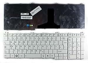 Toshiba Satellite C650D-12F Blanc Layout Allemande Clavier pour ordinateur portable (PC) de remplacement