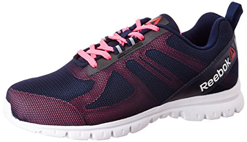 Reebok Women's Super Lite Coll Navy, Poison Pink and Wht Running Shoes - 6 UK/India (39 EU)(8.5 US)