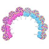 10x Rainbow Lollipop W / Bogen Cabochon Für DIY Scrapbooking
