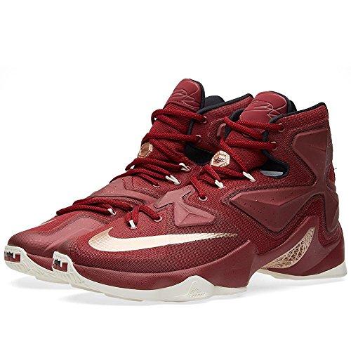 Scarpe Da Basket Nike Mens Lebron Xiii, Talla Rosso / Bianco / Nero / Argento (squadra Rosso / Mtlc Rd Bronzo-blk-sl)