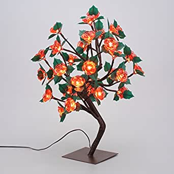 Finether Lampada da Tavolo LED Albero di Natale a Batterie (17.72 pollici, 36 LED, Rosa)