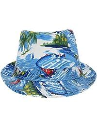 EOZY Chapeau De Soleil Imprimé Femme Chapeau Bob Plage Hawaïenne Coton Homme