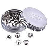30 Stück Sicherungsstift Keepers Backs, ohne Werkzeug (Silber)
