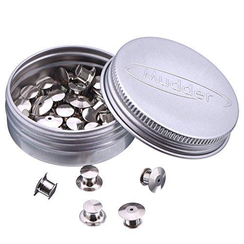 30 Stück Sicherungsstift Keepers Backs, ohne Werkzeug (Silber) -