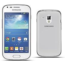 Moozy más Delgado del Mundo super slim funda / cover de silicona para Samsung Galaxy Trend S7560 / Trend Plus S7580 / S Duos S7562 Gris Transparente