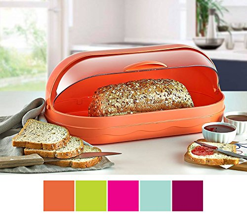 Renberg rb-4440 Brotkasten Lagerplatz Rolle Top Kunststoff Brot Box Bin rose