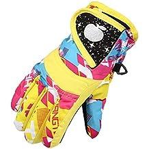 Guantes de esquí, fundido Power Niños Esquí Snow Snowboard y guantes de esquí–Resistente al agua y al viento–Outdoor Deportes de Invierno térmica térmica, c