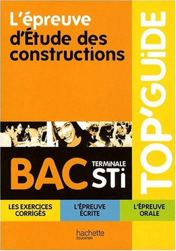 Etudes des constructions, terminale STI
