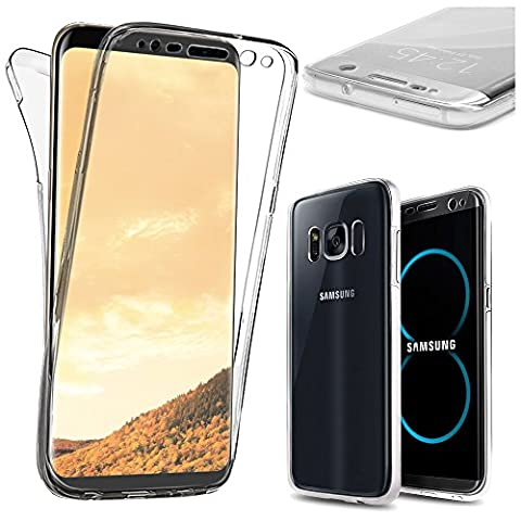ebestStar - pour Samsung Galaxy S8 - Coque Intégrale Avant et Arrière Etui Housse Silicone Gel, Couleur Transparent [Dimensions PRECISES de votre appareil : 148.9 x 68.1 x 8 mm, écran 5.8