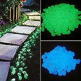 Aquarium Fake Pebbles Glow in Dark Stone Night Rocks 100Glow