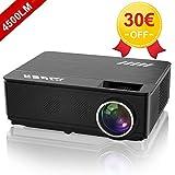 YABER Vidéoprojecteur 4500 Lumens Soutien 1080P Full HD Home Cinéma Projecteur LED avec Deux Haut-parleurs Stéréo (de Qualité HiFi - Haute-fidélité) et 3 Ventilateurs Intégrées, 200' Affichage