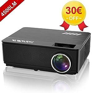 YABER-Vidoprojecteur-4500-Lumens-Soutien-1080P-Full-HD-Home-Cinma-Projecteur-LED-avec-Deux-Haut-parleurs-Stro-de-Qualit-HiFi-Haute-fidlit-et-3-Ventilateurs-Intgres-200-Affichage