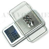 Quantum Abacus balanza digital de precisión profesional / pesacartas / microbalanza / pesillo / balanza de bolsillo 100g/0.01g, Mod. 66813 DE