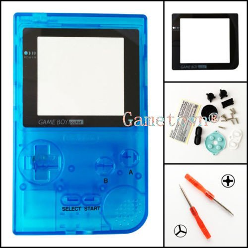 gametown® Clear Light Blue Gehäuse Shell Schutzhülle Ersatzteile für Nintendo Gameboy Pocket Konsole GBP System (Boy-system Game)