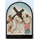 PB 6th Station of Cross Veronica Wipes Face of Jesus Peel & Stick Vinyl Wall Sticker 18 x 24.6inch