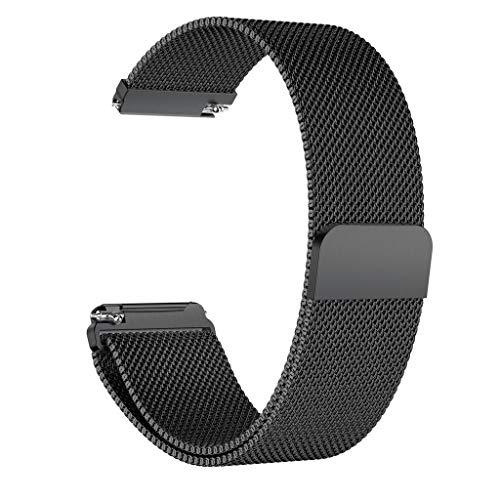 Preisvergleich Produktbild LCLrute 2019 Upgrade Bandgurt,  Milanese Magnetband,  Milanese Magnetband Edelstahlband für Fitbit Versa Lite (Schwarz)