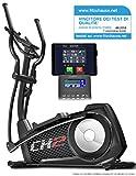 Sportstech Cyclette ellittica CX2 - Vincitore Test di qualità - con App e generatore di Potenza Integrato - Trainer ellittico, Console Bluetooth e Supporto per Tablet Incluso - Massa volano di 27 kg