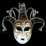 Kc-1981 K&C Handgemalte Halloween Masquerade Venedig Party Lace Maske Schwarz