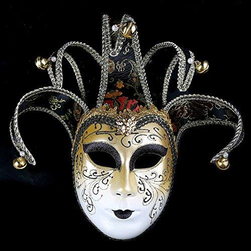 K&C Handgemalte Halloween Masquerade Venedig Party Lace Maske Schwarz