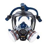 OHMOTOR Silikon Vollmaske Atemschutzmaske mit niedrigstem Atemwiderstand für...