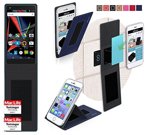 reboon Hülle für Archos Diamond 2 Note Tasche Cover Case Bumper   Blau   Testsieger