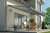 Hochwertige graue ALU Terrassenüberdachung