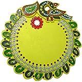 """AsiaCraft Wooden Decorative Pooja Thali / Diwali Pooja Thali 12 """""""