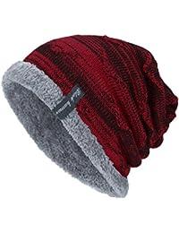 Berretto a Maglia,Yanhoo cuffia con risvolto beanie lavorato a maglia beanie invernale