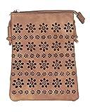 malito Damen Umhängetasche | kleiner Brustbeutel | Schultertasche mit Muster | Hüfttasche - Tasche T2460 (fango)