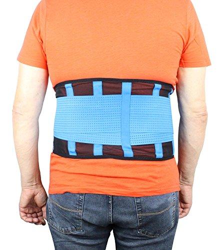 Rückenbandage Sport Rückenstützgürtel Premium Fitnessgürtel mit Sützfunktion Nierengurt Motorrad Roller Rückenstabilisator Bandscheibe atmungsaktiv Größe M von bandagenProfis