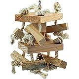 natürlichen Holz Double Decker & Seil Spielzeug für Papageien