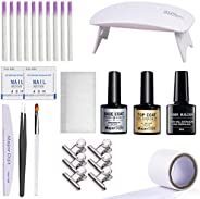 Fibernails Fiberglass Gel T-op & Base Coat Acrylic Nail Extension Salon Fiberglass Tools