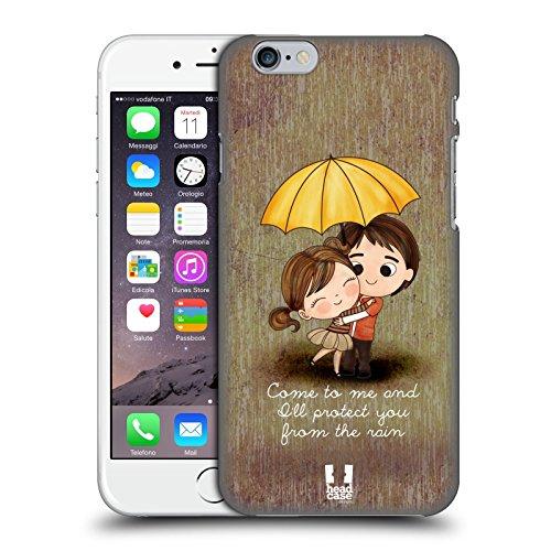 Head Case Designs Je Te Donne Mon Coeur Amour Mignon Emo Étui Coque D'Arrière Rigide Pour Apple iPhone 4 / 4S Je Te Protège De La Pluie