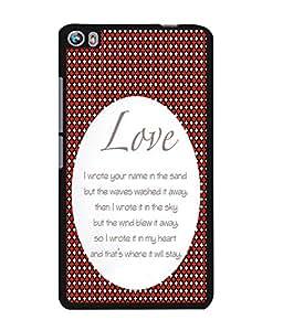 Fuson 2D Printed Love Designer back case cover for Micromax Canvas Fire 4 A107 - D4562