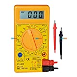 #8: KitsGuru KG172 Dt830D Digital Multimeter LCD Display with Probe Pair