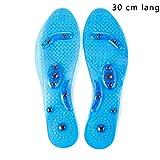Transparente magnetische orthopädische Einlegesohlen Breathable desodorierende Sweatproof bequeme Massage Einlegesohlen für Mann-Frauen, Anti-Fasciitis, die Fersen-Schmerz entlasten (Blau)