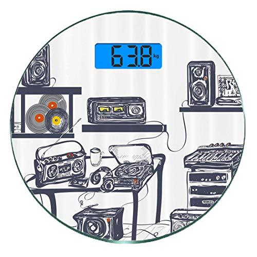 Básculas de baño digitales delgadas   FÁCIL DE USAR: lecturas inmediatas tan pronto como pise. Apagado automático, cero automático, calibración automática. Indicadores de batería baja y sobrecarga.  Para obtener lecturas precisas, le recomendamos que...