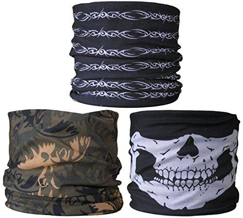 Black & Amp; Weiß Draht, Grün / Camouflage,Schädel-Kiefer (Schädel-kiefer-maske)