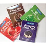 4 x Pasante Dental Dams -- Strawberry , Mint , Chocolate , Blueberry Flavour ...
