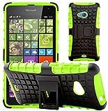 G-Shield Hülle für Microsoft Lumia 535 Stoßfest Schutzhülle mit Ständer - Grün