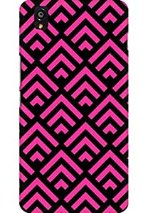 AMEZ designer printed 3d premium high quality back case cover for One Plus X (Arrow Pink N Black Pattern)