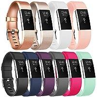 Tobfit Armband Für Fitbit Charge 2 Verstellbare Weiches Silikon Sport Ersatz Armband für Fitbit Charge 2 (Klassische und Special Edition)